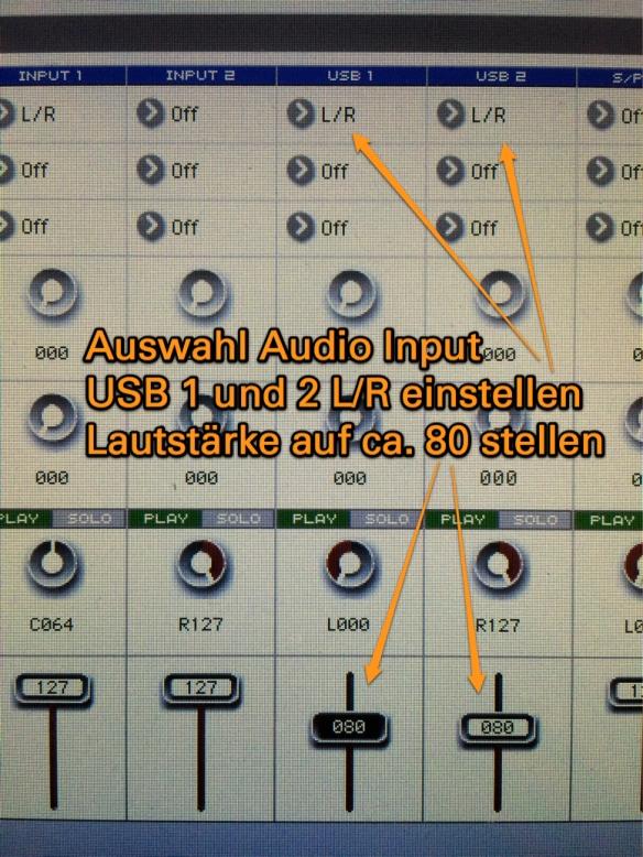 Einstellung Audio-USB