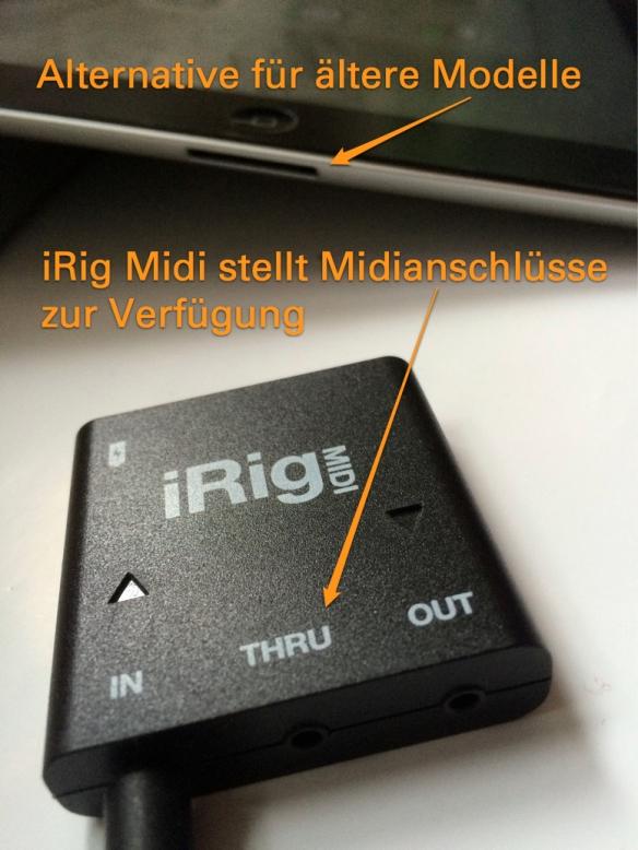 iRig Midi - gibt dem iPad Midi