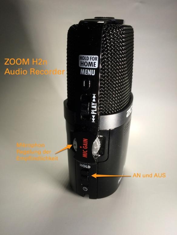 Zoom H2n Bedienelemente