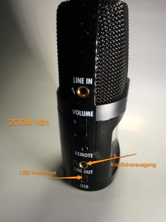 Zoom H2n - USB Anschluss